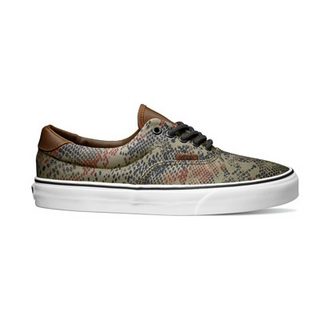 VANS Era 59 Unisex Low Top Skate Shoes Trainers (snake Camo) Bison ... 0074220aa127