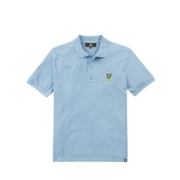Lyle & Scott Polo Shirts 140 Plain Polo - Azure Blue