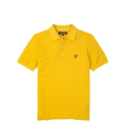 Lyle & Scott Polo Shirts Plain Pique - Light Gold