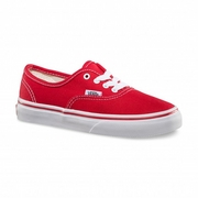 Vans Authentic Kids Red/True White