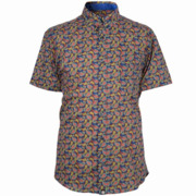 Pretty Green Shirts SS Leaside - Blue