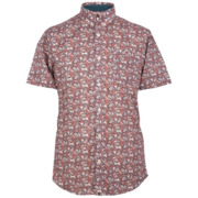 Pretty Green Shirts SS Leaside - Ecru