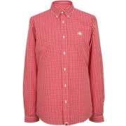Pretty Green Ebsworth Gingham Long Sleeve Shirt Red