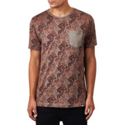 Pretty Green Turner Paisley T-Shirt Charcoal