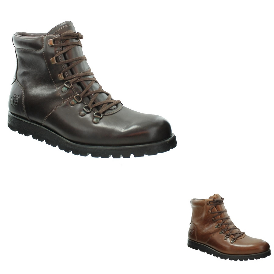 timberland ek heritage alpine hiker mens boots brown or