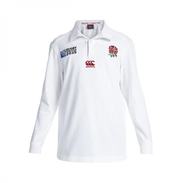Canterbury England RWC Home Classic LS Kids Jersey