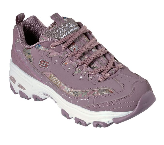 Grillo Deformación Tiza  Skechers D'lites - Floral Days Chunky Trainers